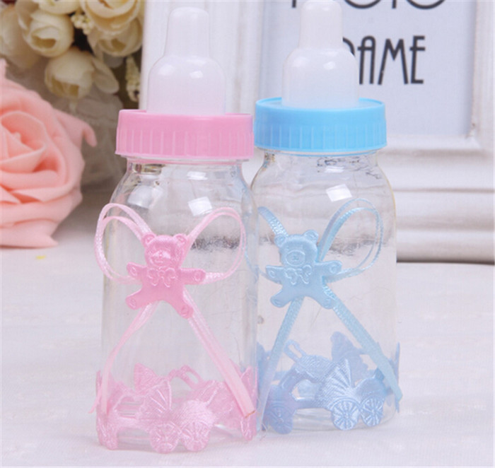 Wholesale 200pcs/lot Wedding candy box Baby feeding bottle wedding favor accesseries