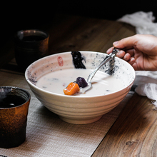 NIMITIME Japanese Style Ceramic 7.5 Inch  Ramen Noodle Soup Retro Tableware Dinner Bowl