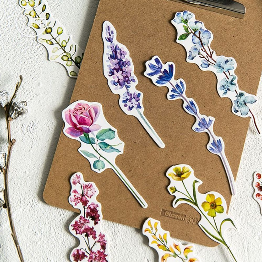 30 Pcs/box New Plants Flower Paper Bookmark Stationery Bookmarks Book Holder Message Card School Supplies New Arriver