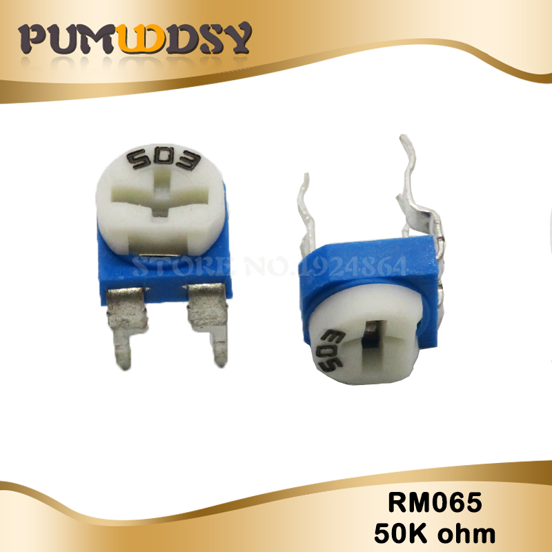 20PCS RM065 RM-065 50K Ohm 503 RM065-503 Trimpot Trimmer Potentiometer Variable Resistor