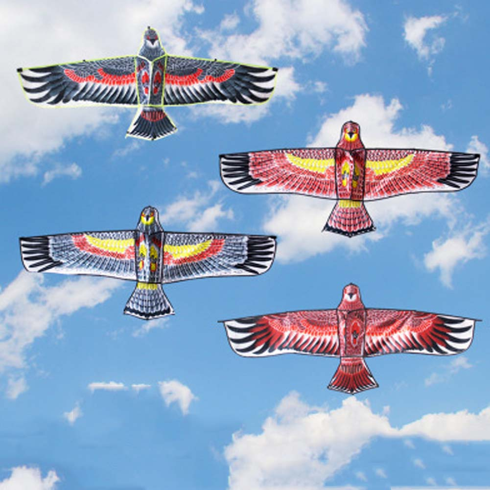 150*56cm Fun Outdoor Sport Beach Kite Huge Big Eagle Animal Bird Kites Child Toy Random Color High Quality