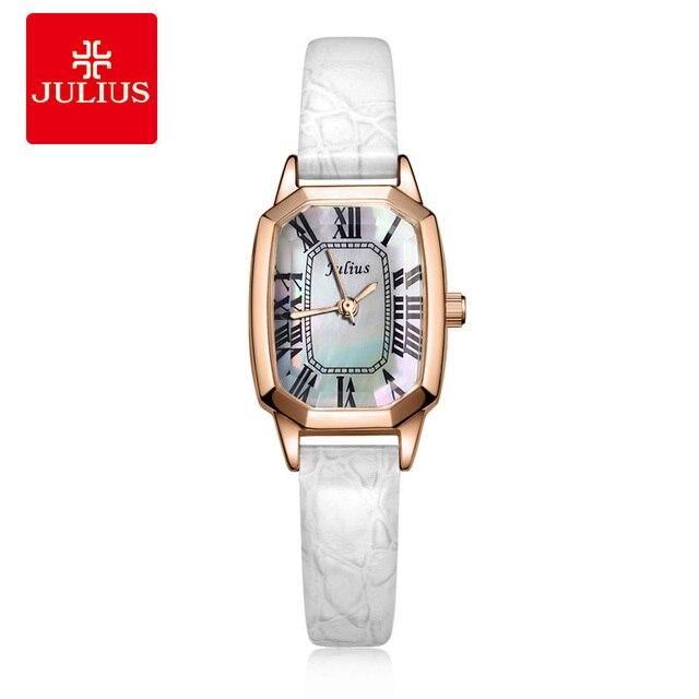 Top Julius Lady Women's Watch Japan Quartz Retro Elegant Shell Fashion Hours Dress Bracelet Leather Girl Birthday Valentine Gift