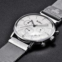Fashion Mens Watches Quartz Ultra Thin Watch Men Waterproof Sports Business Chronograph Male Clock Wrist Watch Relogio Masculino