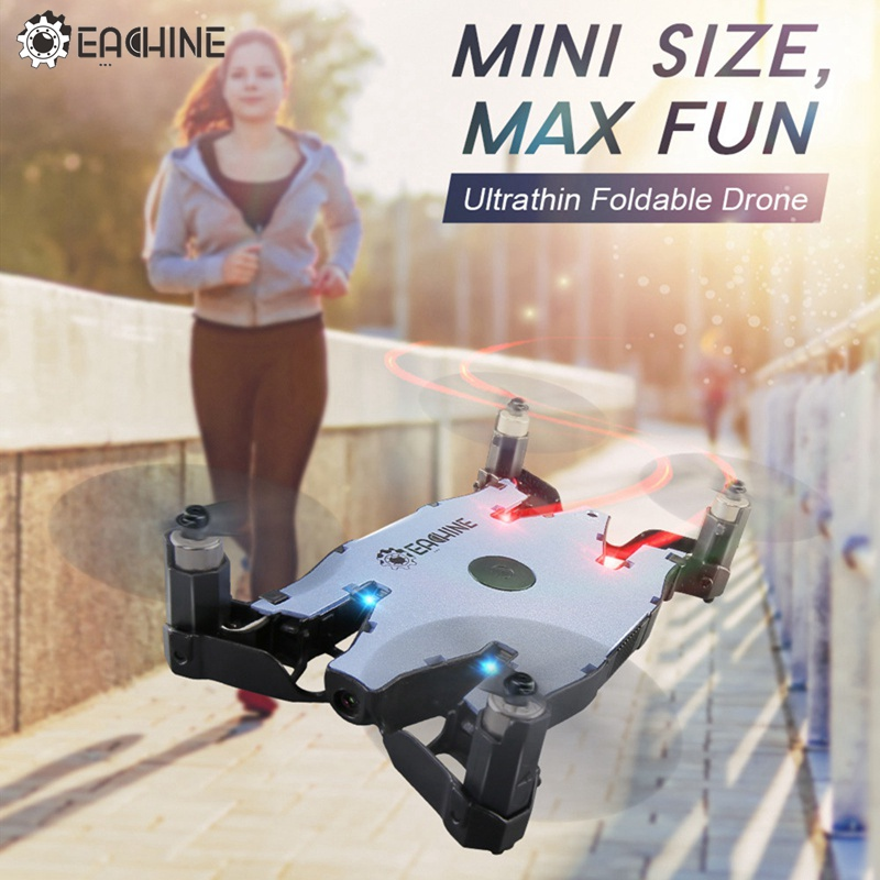 In Stock! Eachine E57 WiFi FPV Selfie Drone With 720P Camera Auto Foldable Arm Altitude Hold RC Quadcopter RTF VS JJRC H49 H37 jjrc h49 sol ultrathin wifi fpv drone beauty mode 2mp camera auto foldable arm altitude hold rc quadcopter vs e50 e56 e57