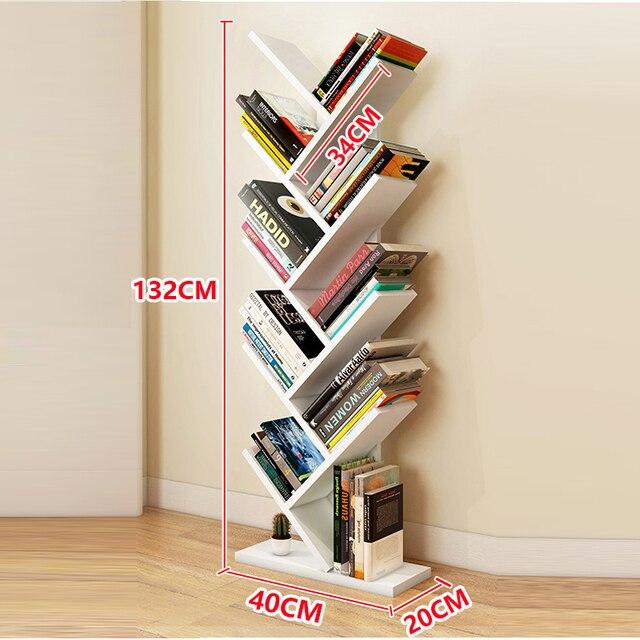 Tree Shape Kids Bookshelf Bookcase Books Cds Display Storage Rack Shelf Free Combination Wood 9 Tier Multicolor