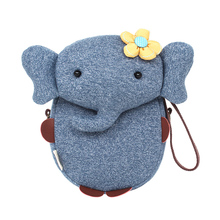 New Children Cartoon Bags Cute Elephant Mini Handbag For Girls Boys Pure Cotton Animals Kids Baby Bags Handmade A limited