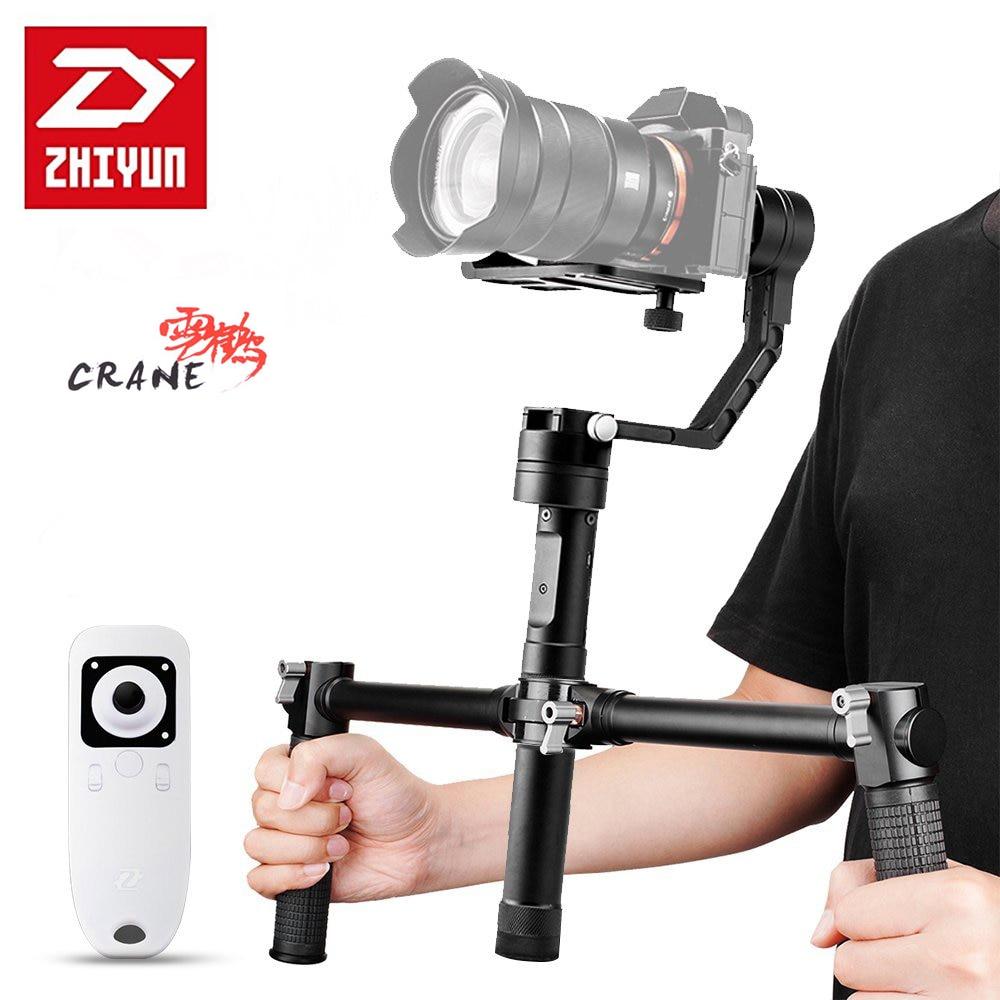 Zhiyun кран <font><b>V2</b></font> 3 оси Бесщеточный Ручные стабилизаторы стабилизатор с Беспроводной контроллер и двойной handhle Ручка Для беззеркальных Камера