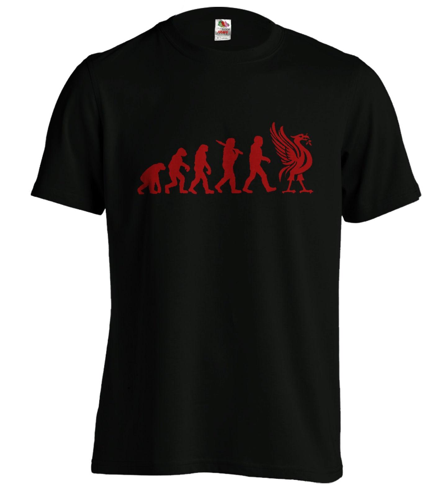 4c30bbc3 Liverpool Evolution T-Shirt Liver Bird Tee Funny T Xmas Birthday Present  New T Shirts