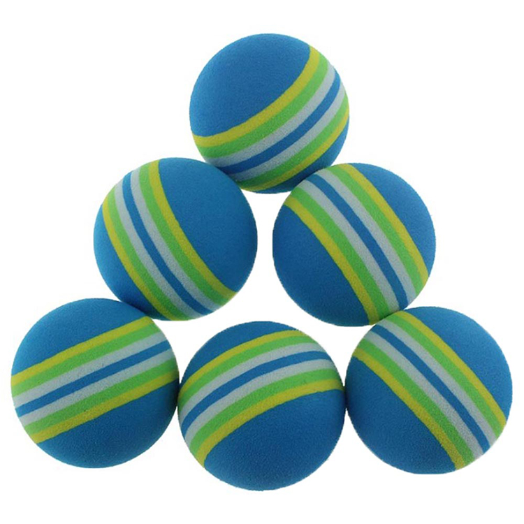 Five One For Sale 42mm Golf Practice Ball Rainbow Ball Golf EVA Ball Golf Indoor Ball Sponge Ball