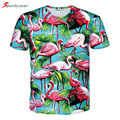 Sportlover 2016 New Summer T-Shirt 3d Print T Shirt Flamingos Coco Tree Fashion Clothes Tee Chemise Camisas for Unisex Women Men