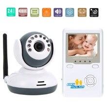 Цифровые Детские Фетальный Монитор 2.4 дюймов ЖК-ИК Ночного Видения 2 способ Обсуждение Колыбельные Зум Аккумуляторная Батарея видео няня плода допплер