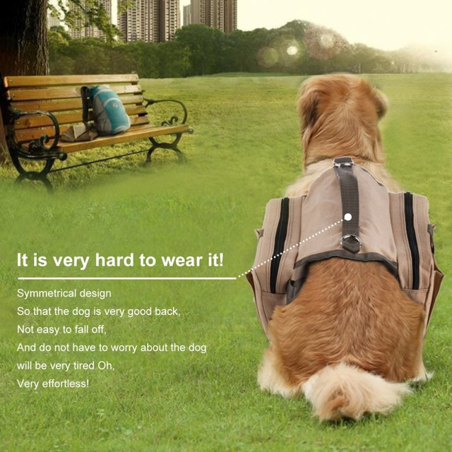 OUTAD Durable Soft Comfortable Dog Pack Harness Canvas Saddle Bag With Adjustable Strap For Outdoor Travel_640x640 outad durable soft comfortable dog pack harness canvas saddle bag