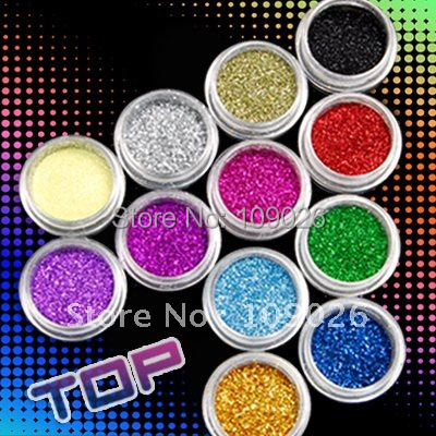 12 цветов акриловая блестящая пудра набор пыли для дизайна ногтей