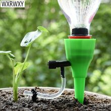 Automatic drip irrigation system DIY Automatic Plant Waterers taper watering water Flowerpot plant watering 1pcs cheap WXRWXY Plastic 18-25mm Watering Kits See picture Adjustable flow 18-25mm bottle mouth Sent at random