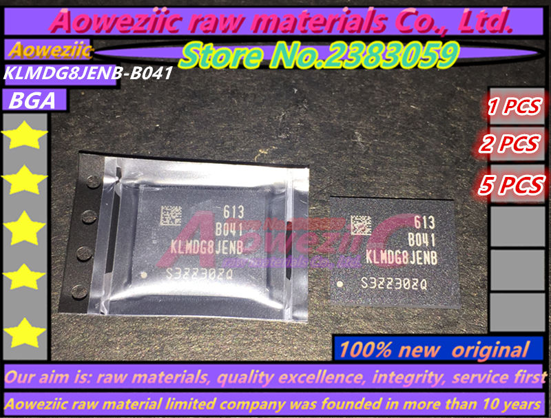 Aoweziic 100% new original KLMDG8JENB-B041 BGA KLMDG8JENB B041 128GB memory chip 1pcs 2pcs 5pcs 10pcs 100% new original sdin7du2 8g bga memory chip