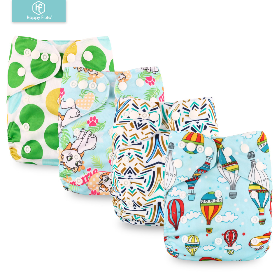 Happyflute New Design OS Cloth Pocket Diaper , Waterproof, One Size Fit All, Fit 8-38pounds