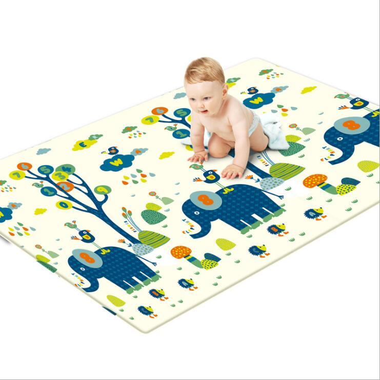 Tapis de jeu rampant pour bébé épaissir la Protection de l'environnement tapis de mousse pour enfants couverture de jeu humidité XPE bébé tapis d'escalade cadeaux - 5
