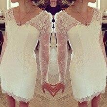 2015 Verkaufsförderungs-voll Abendkleider Abschlussball-kleider Nach Maß Lange Hülsen-spitze Abendkleid Abend Formale Kleider Vestidos De