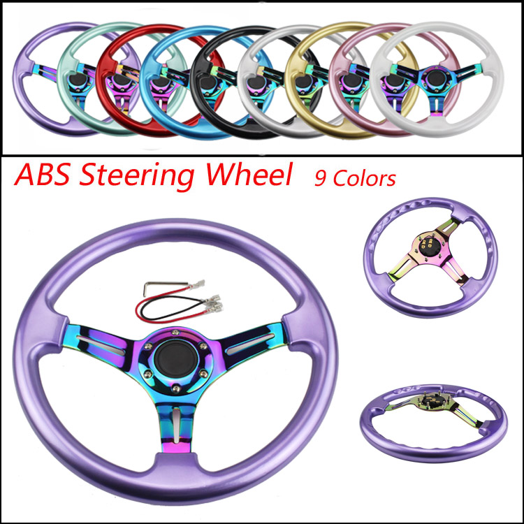 Neo Chrome New 350mm 14inch Steering Wheel ABS Steering - Suku cadang mobil - Foto 2