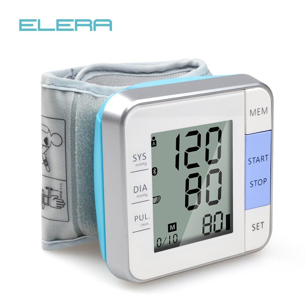 ELERA LCD Digitale Da Polso Monitor di Pressione Sanguigna Sfigmomanometro Misuratore di Pressione Sanguigna Automatico Tonometro per la misurazione della Pressione