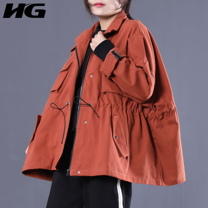 [HG] Women Fashion New 2019 Spring Turn-down Collar Full Sle