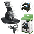 Top Selling Dual Charger Controller Stand USB Charging Adapter LED Light Dock Station For Xbox One Controller Fast