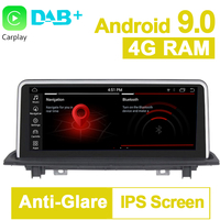 PX6 10.25 inch 4G RAM Android 9.0 System Car GPS Navigation Media Stereo Radio For BMW X1 F48 2016 2017 with NBT System