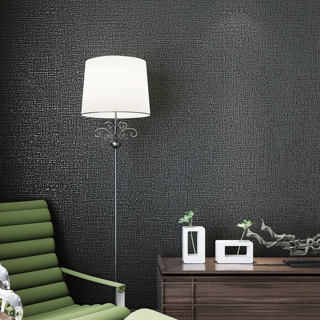 Modern Minimalist Solid Color Non Woven Wallpaper Bedroom Living Room TV Background Wall