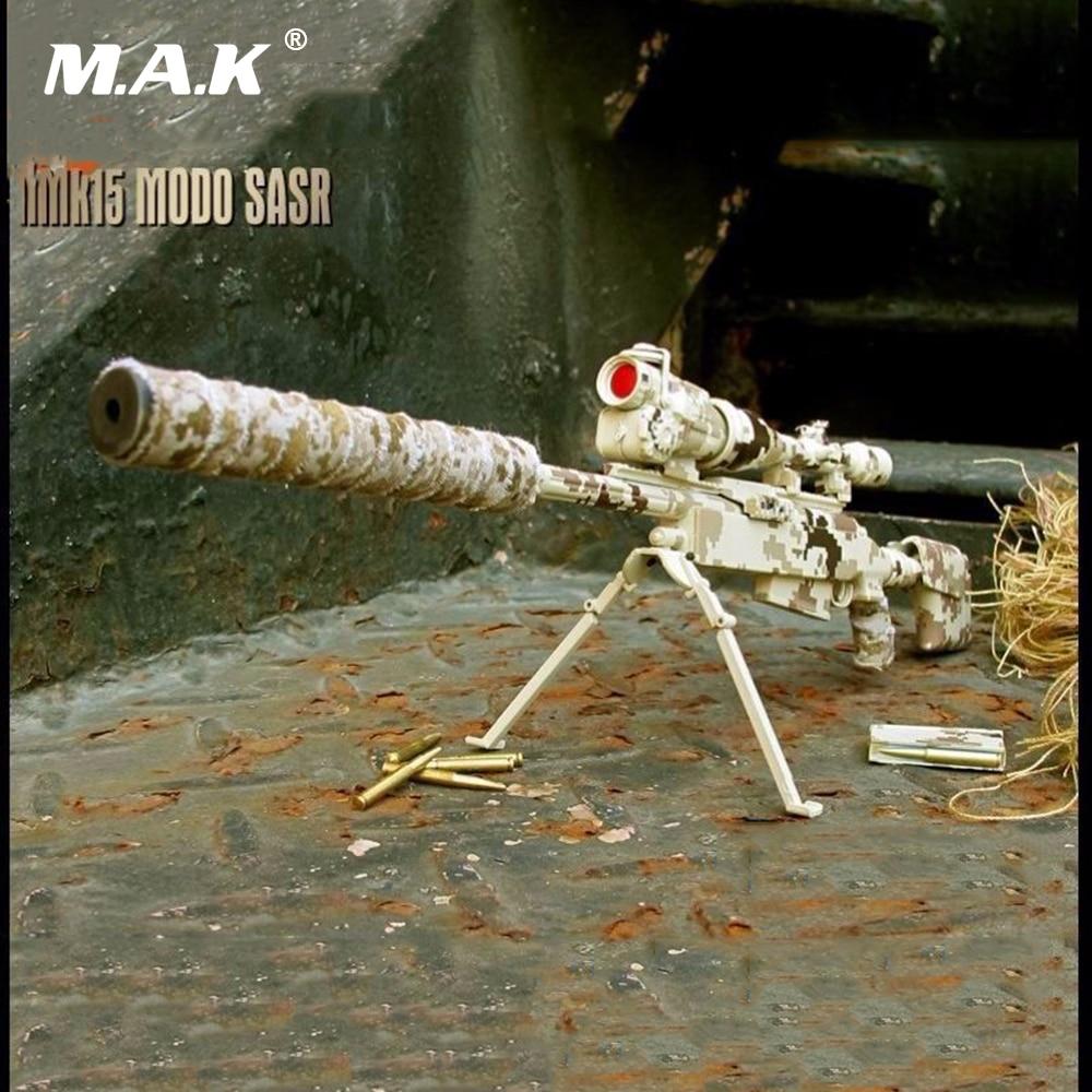 1/6 Scale Figure Weapon Gun Models Desert Camo Sniper Rifle Model Toys Collectible Accessory for 12 inches Action Figure 1 6 action figure weapon model 95 assault rifle qbz 95 diy gun toy accessory