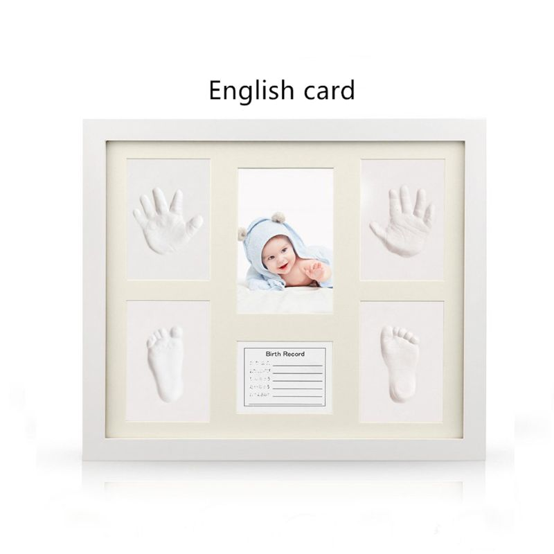 New Baby Handprint And Footprint Frame Kit Shower Keepsake Kit For Parents On Room Wall Table Decor