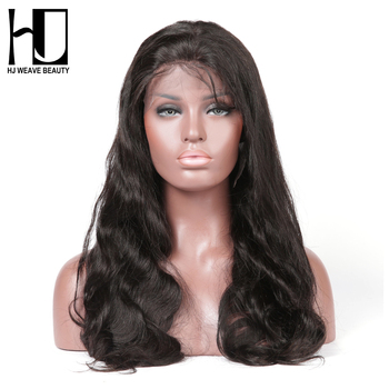 [HJ WEAVE BEAUTY] Lace Front Wig Body Wave 100% Human Hair Natural Color Brazilian Remy Hair Free Shipping gorros de baño con flores