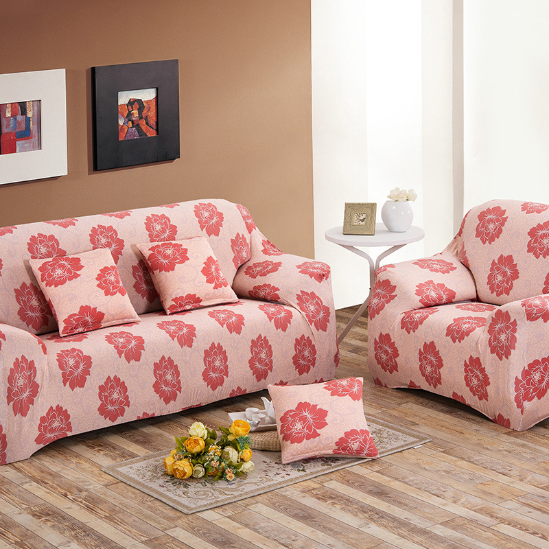 Sectional Protetor Sofa Cover Printed Tight Wrap All inclusive Towel ...