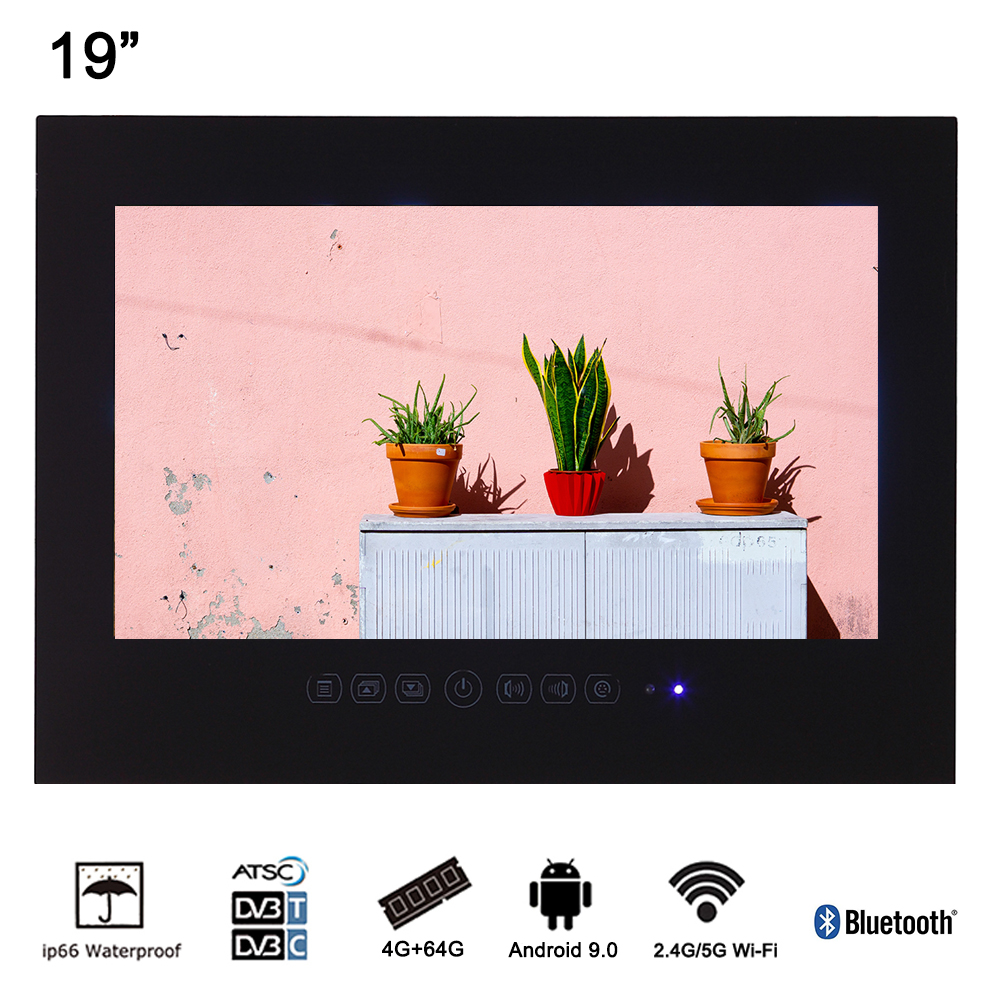 Souria 19 inch Android 9.0 Smart Waterproof TV LED pentru baie LCD - Audio și video acasă