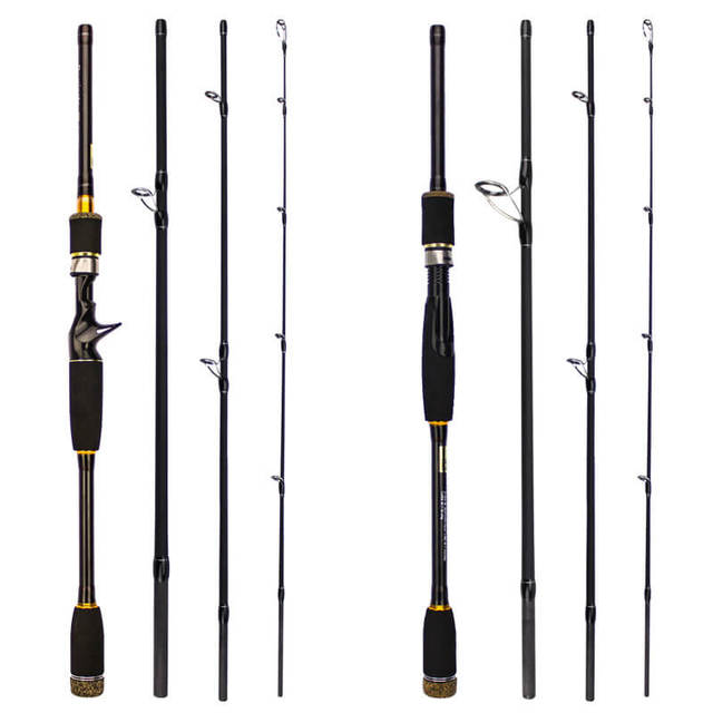 US $22 62 29% OFF|2 1/2 4/2 7/3 0m Lure Fishing Rod Travel Spinning Lure  Rod Sea Raft Lake Saltwater Freshwater Pole Straight/Gun handle Tackle-in