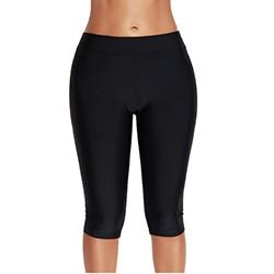 Plus Size Swim Shorts For Women 2019 Summer Knee Length Large Surfing Trunks Swimsuit Swimwear Bikini Bottoms Pants Beach Wear