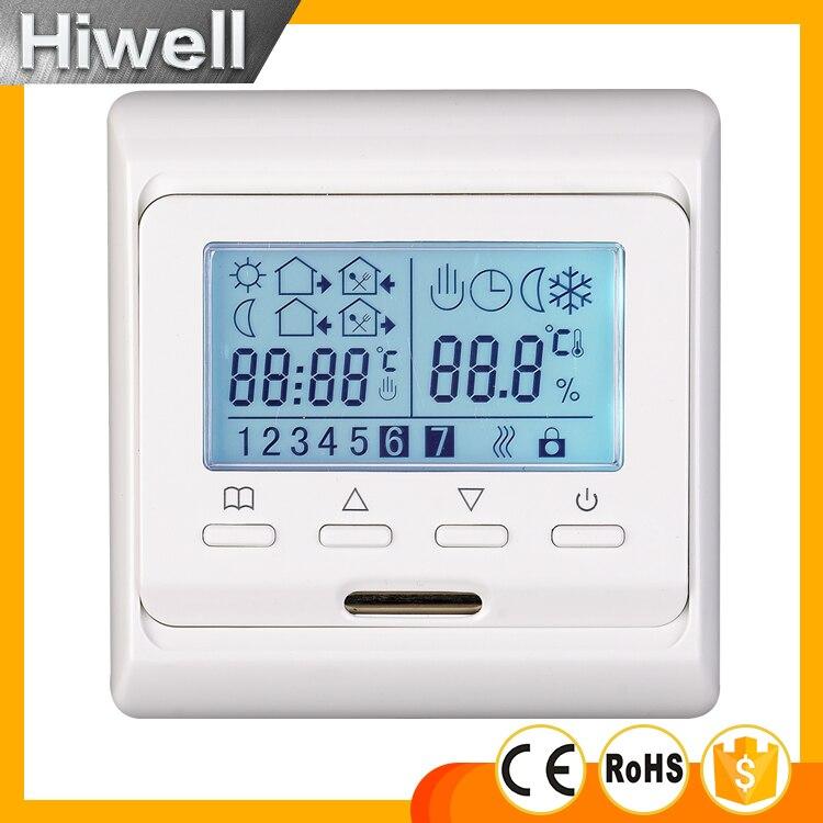 Frete grátis programável Semanal termostato digital termostato para aquecimento de piso esteira de aquecimento filme aquecimento cabo de aquecimento do painel