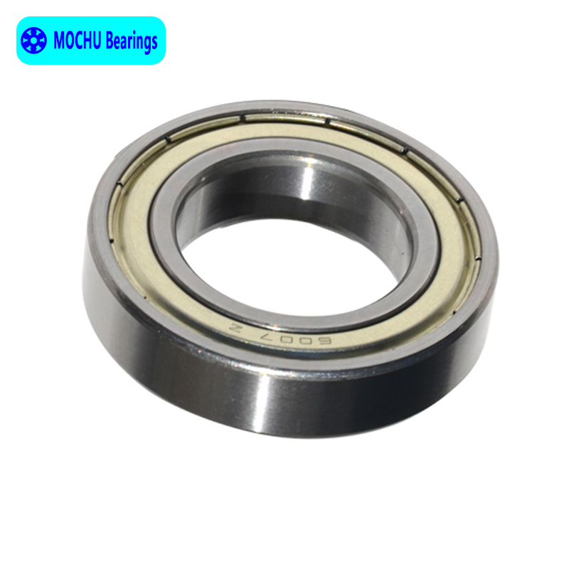 6007RS Bearing 35x62x14 mm ABEC-3 2PC Groove 6007 RS RZ Ball Bearings 6007-2RS