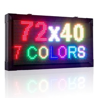 P10 Outdoor Waterproof Full Color RGB LED Sign 32X64pixels 1/4 scan LAN Programmable Rolling information Led Display Screen kit