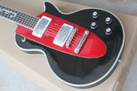 free shipping china factory custom new LP black&red Electric Guitar real photos high quality 2
