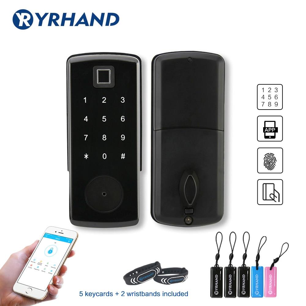 Electronic Door Lock Digital Smart Bluetooth APP Keyless Lock Keypad Code Password Door Lock