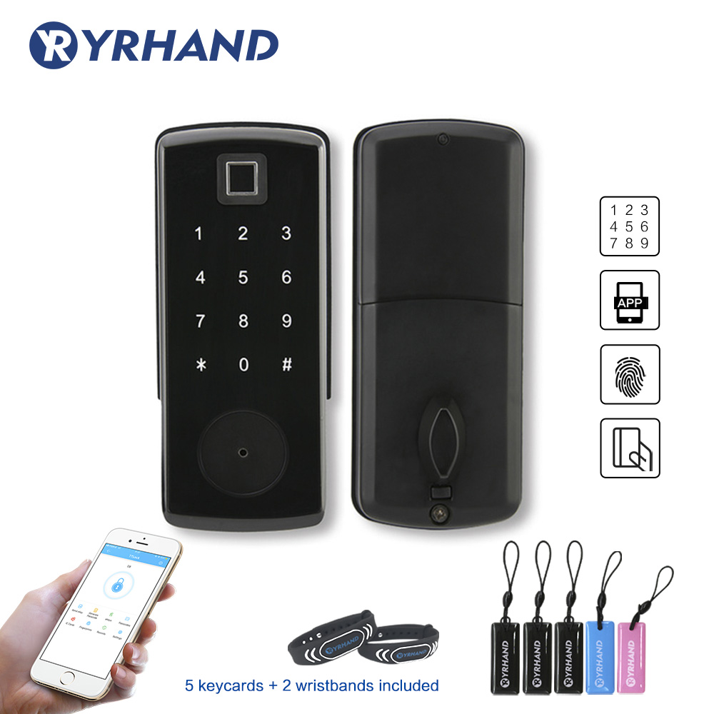 TTlock App Electronic Door Lock,Digital Smart Bluetooth APP Keyless Lock,Keypad Code Password Door Lock
