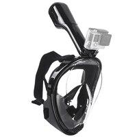 Groothandel! zwemmen Duiken Snorkelen Volgelaatsmasker Oppervlak Scuba voor Gopro L/XL (Volwassen Type)