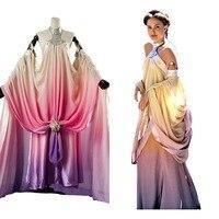 Звёздные войны: Queen Падме naberrie Амидала платье для взрослых Для женщин средневековый костюм Хеллоуин Косплэй костюм Индивидуальный заказ