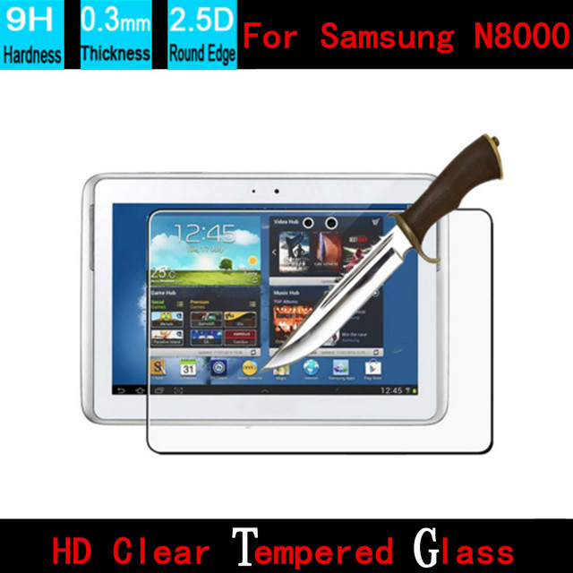 Vetro Temperato Su Misura.Su Misura 0 3 Mm Rotonda Bordo Vetro Temperato Per Samsung N8000