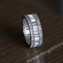 choucong Full Princess cut Stone 5A Zircon stone 10KT White Gold Filled Engagement Wedding Band Ring Set Sz 5-11 Gift