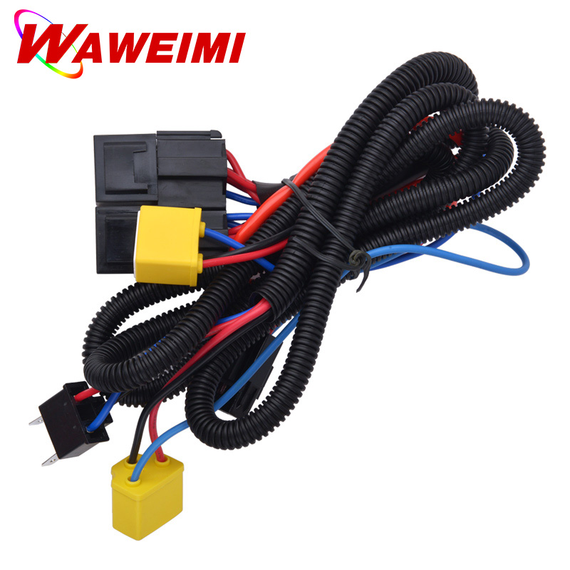 universal 12v 40a car fog light wiring harness kit loom for hid work rh aliexpress com