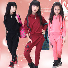 Children's clothing girl suit 2018 new style spring and autumn fashion bat shirt jacket + harem pants leisure children two-piece