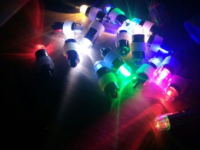 50pcslot Super bright colorful Single Mini Led Lights Battery