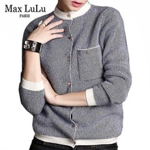 Knitwear Women Cardigans Max Lulu Ladies Sweater Oversized Korean-Style Vintage Casual
