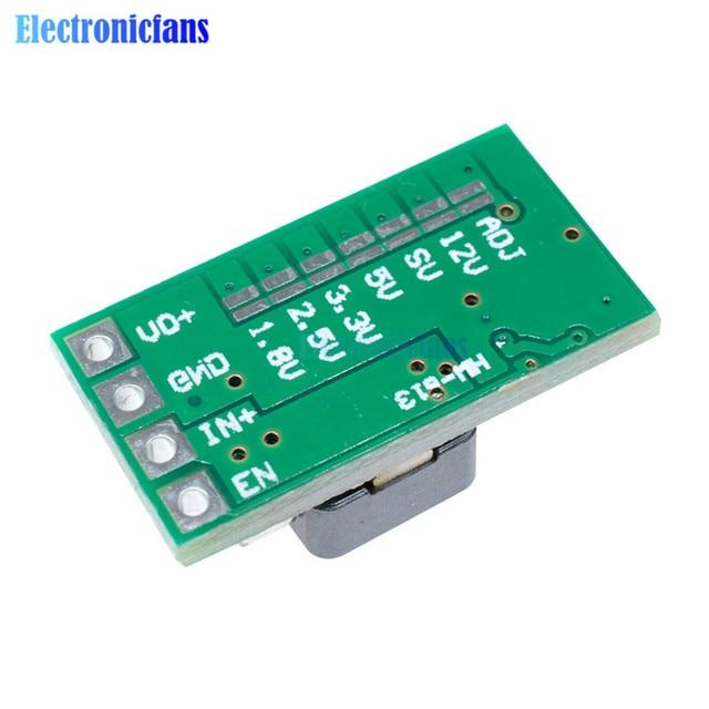 10 adet/grup Ultra küçük boyutlu DC-DC adım aşağı güç kaynağı modülü 3A Buck dönüştürücü ayarlanabilir 1.8V 2.5V 3.3V 5V 9V 12V adım aşağı